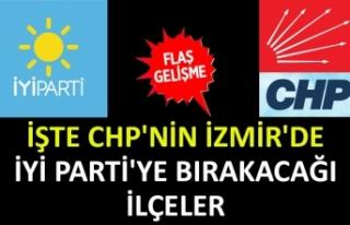 İşte CHP'nin İzmir'de İYİ Parti'ye...