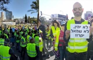 'Sarı Yelekliler' eylemi İsrail'e...