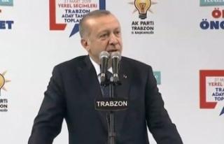 Erdoğan'dan Trabzon'da önemli mesajlar