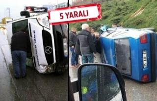 İzmir'de art arda trafik kazası: Yolcu minibüsü...