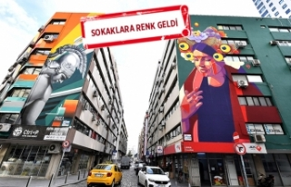 İzmir'in duvarlarında 'sanat' var!