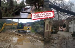 İzmir, şiddetli yağış ve fırtınaya teslim!