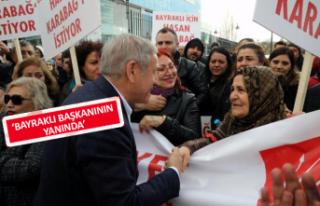Karabağ için CHP Genel Merkezi'ne gittiler