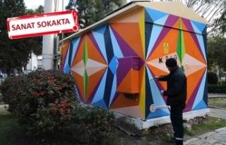 Karşıyaka'da trafolara modern dokunuş