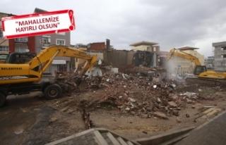 Trafik akışında sorun olan binalar kamulaştırıldı