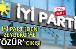 İYİ Parti İzmir'den Zeybekci'ye 'özür'...