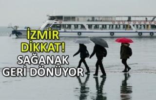 İzmir'e yağmur geri dönüyor