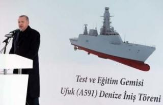 Türkiye'nin ilk istihbarat gemisi denize indirildi