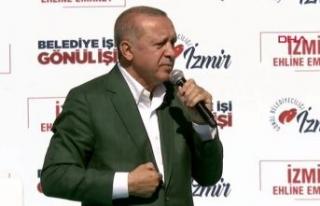 İzmir'de Cumhurbaşkanı Erdoğan'dan çarpıcı...