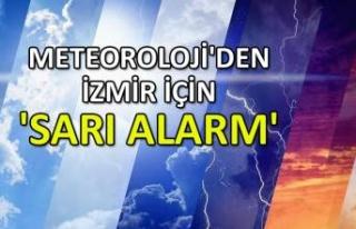 Meteoroloji'denİzmir için 'sarı alarm'