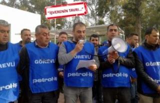 Petrol-İş'ten TÜPRAŞ'ta uyarı eylemi...