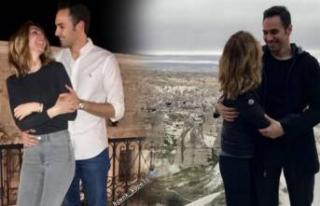 Ünlü çiftin Kapadokya romantizmi