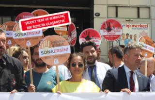 İzmir'de doktora şiddete protesto