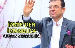 İzmir'den İstanbul'a otobüs seferberliği