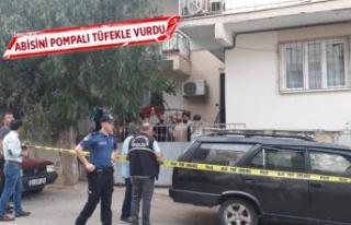 Balkonda oturan abisini pompalı tüfek ile vurdu