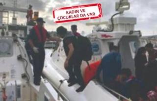 Çeşme'de 35 kaçak göçmen yakalandı