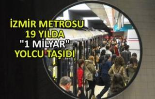 """İzmir Metrosu 19 yılda """"1 milyar"""" yolcu..."""