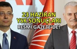 23 Haziran YSK seçim sonuçları Resmi Gazete'de