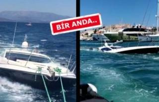 Büyük panik! Çeşme açıklarında tekne battı