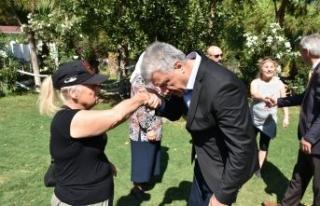 Başkan Ali Engin, şehit aileleriyle buluştu