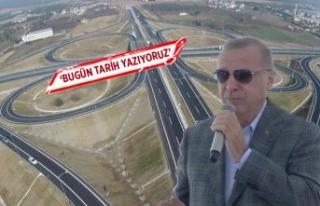 Cumhurbaşkanı Erdoğan İstanbul-İzmir Otoyolu...