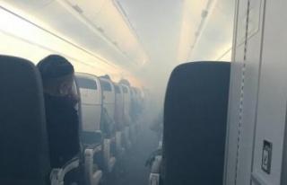 İçerisi dumanla doldu! Yolcu uçağı acil iniş...