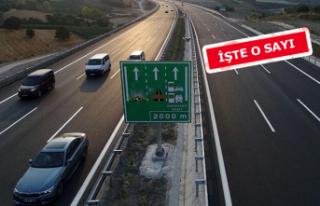 İşte İzmir-İstanbul otoyolunu kullanan araç sayısı!