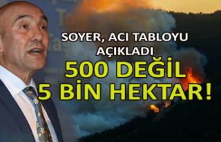 Soyer: 500 değil 5 bin hektar yandı