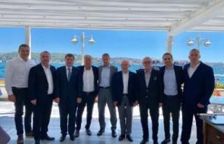 TFF Başkanı Özdemir, UEFA Başkanı Ceferin ile...