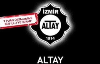 Altay'ın derbi planı