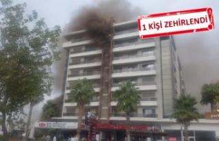 İzmir Bayraklı'da yangın çıktı