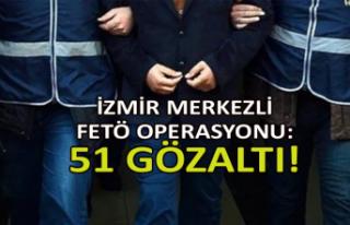 İzmir merkezli FETÖ operasyonu: Çok sayıda gözaltı!