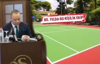 Kültürpark Tenis Kulübü'nde ilk aday Şekercioğlu
