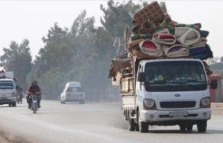 25 bin sivil, Türkiye sınırına kaçtı