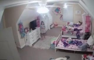 Aileler dikkat! Küçük kız bebek kamerasında dehşeti...