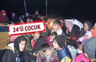 Dikili'de 47 göçmen ile 1 organizatör yakalandı