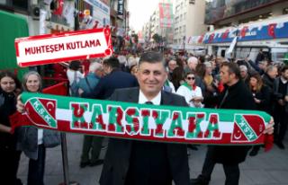 Karşıyaka'da yer gök yeşil kırmızı