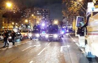 Paris'te ortalık karıştı! Yüzlerce taraftar...