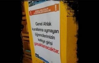 Üniversitede skandal afiş! 'Genel ahlaka uymayan...