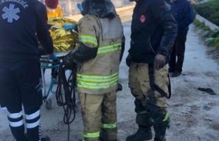 İzmir'de feci kaza: Yaşlı adam dereye düştü