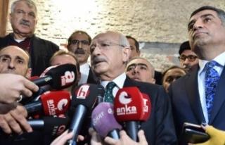 Kılıçdaroğlu açıklama yaparken deprem oldu