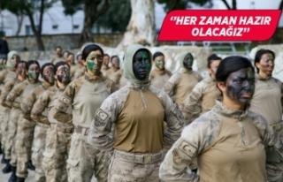 Türkiye'nin ilk kadın komando astsubayları...
