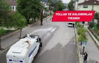 Fethiye'de korona virüse karşı TOMA!