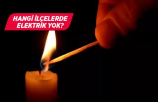 İzmir dikkat! Bu ilçelerde elektrik yok!