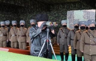 Kuzey Kore lideri Kim füze denemesinde corona virüsüne...