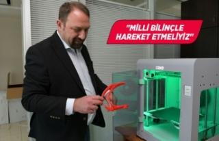 Sağlık çalışanları için 3D yazıcıdan yüz...