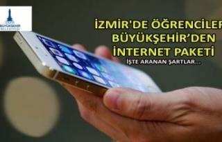 İzmir'de öğrencilere Büyükşehir'den internet...