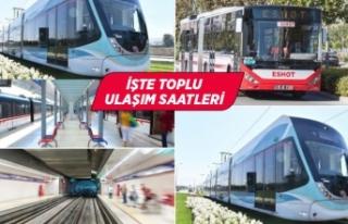İzmir'de sokağa çıkma yasağında toplu ulaşım...