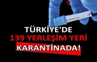 Türkiye'de 139 yerleşim yeri karantinada!