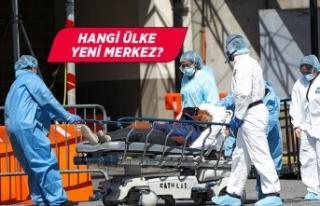 Dünya Sağlık Örgütü salgının yeni merkez üssünü...